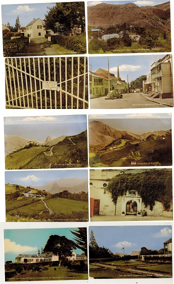 ST.HELENA - 1950-60 circa range of ten unused coloured picture postcards of differing scenes.