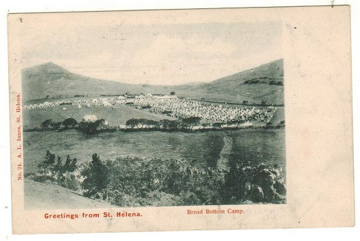 ST.HELENA - 1902 (circa) unused postcard depicting Broad Bottom Camp.