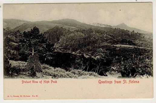 ST.HELENA - 1905 (circa) picture postcard unused depicting