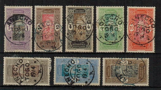 TOGO (French) - 1913 1c to 10c and 20c,25c + 35c