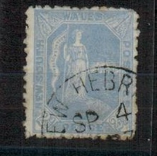 NEW HEBRIDES - 1897 use of 2 1/2d
