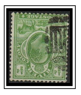 ORANGE RIVER COLONY - 1903 1/2d green used with INVERTED WATERMARK.  SG 139w.