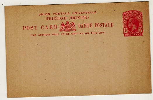 TRINIDAD AND TOBAGO - 1915 1d carmine PSC unused.  H&G 2.