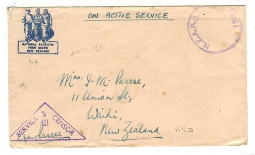 SOLOMON ISLANDS - 1944 (circa) N.Z.A.P.O. 150 censored stampless