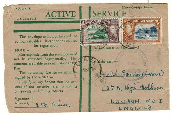 TRINIDAD AND TOBAGO - 1943 use of