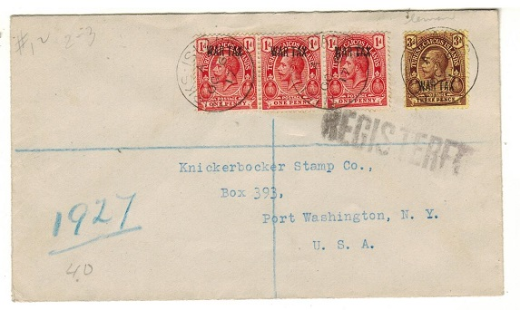 TURKS AND CAICOS IS - 1917 1d (x3) and 3d