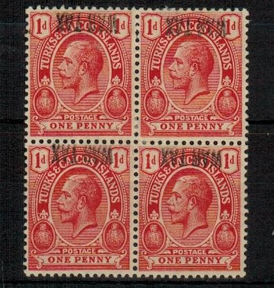 TURKS AND CAICOS IS - 1917 1d red