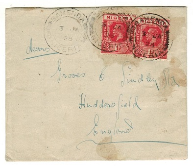 CAMEROONS - 1928 2d rate cover to UK used at BAMENDA.