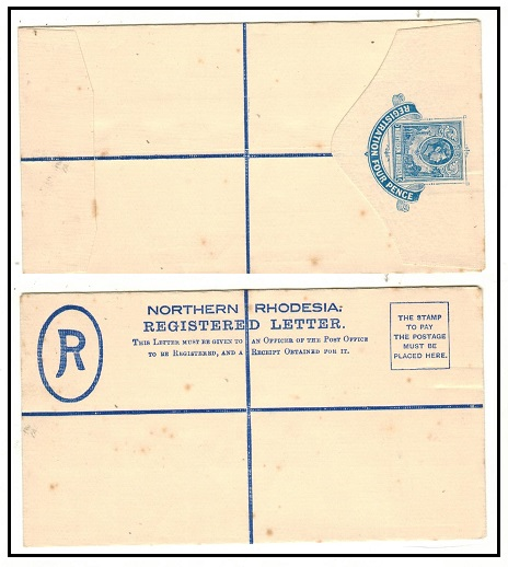 NORTHERN RHODESIA - 1938 4d blue unlisted