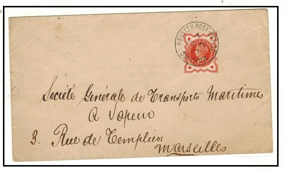 BRITISH LEVANT - 1897 1/2d (GB) on cover to France used at BPO/SMYRNA. SG Z256.