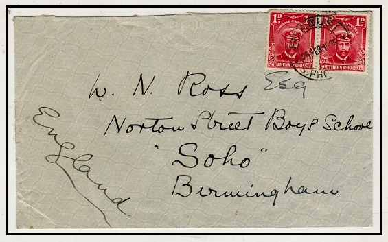 SOUTHERN RHODESIA - 1926 2d rate cover to UK used at FILABUSI.
