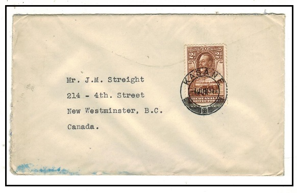BECHUANALAND - 1934 2d rate cover to Canada used at KASANE.