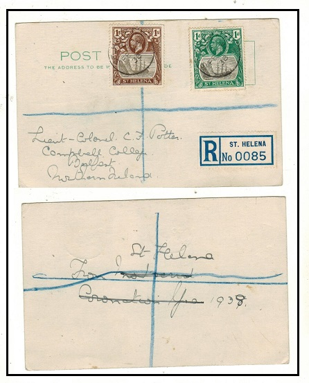 ST.HELENA - 1938 1d and 1/-