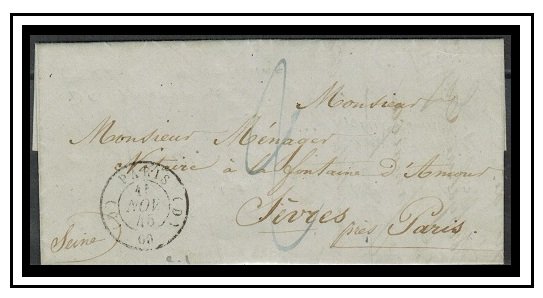 JAMAICA - 1845 entire to France.