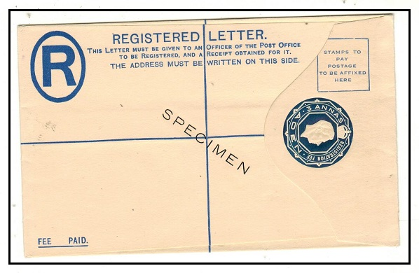 ADEN - 1937 3a dark blue RPSE unused SPECIMEN.  H&G 1.