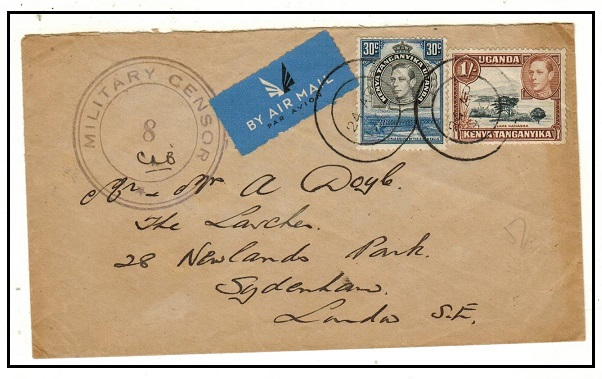 K.U.T. - 1940 1/30c rate cover to UK with