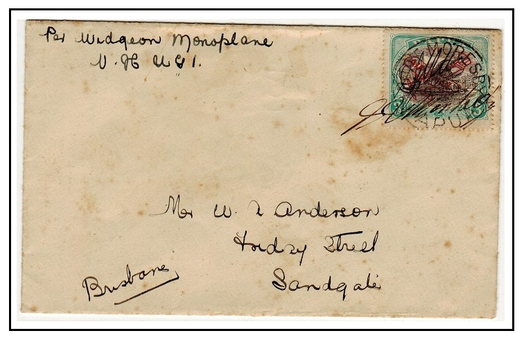 PAPUA - 1934 first flight cover to Brisbane from PORT MORESBY and pilot signed.