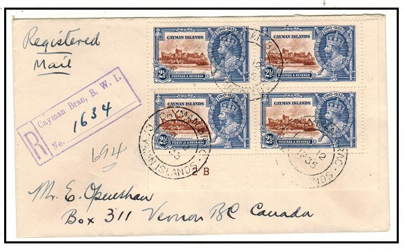 CAYMAN ISLANDS - 1935 2 1/2d