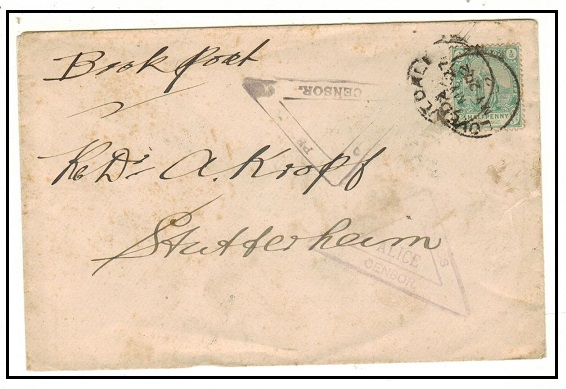 CAPE OF GOOD HOPE - 1902 1/2d local cover used at LOVEDALE with PASSED PRESS CENSOR/ALICE h/s.