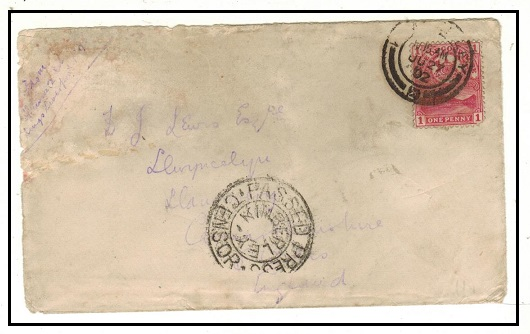 CAPE OF GOOD HOPE - 1902 1d rate military cover used at KIMBERLEY with PASSED PRESS CENSOR/KIMBERLEY