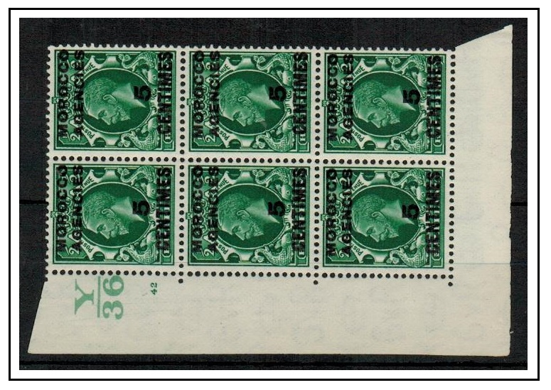 MOROCCO AGENCIES - 1935 5c on 1/2d U/M