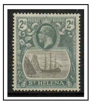 ST.HELENA - 1923 2d grey and slate