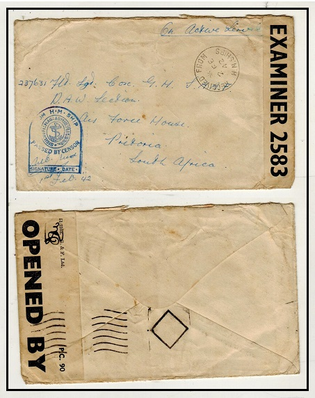 SOUTH AFRICA - 1942 inward