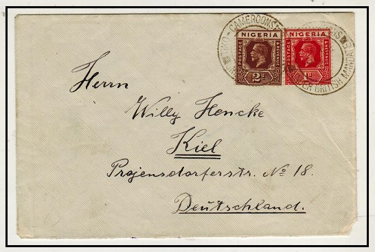 CAMEROONS - 1931 3d rate cover to Germany used at TIKO CAMEROONS.