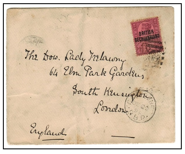 BECHUANALAND - 1894 6d rate cover to UK used at