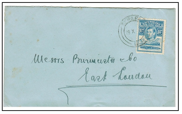 BASUTOLAND - 1947 1 1/2d rate local cover used at SEHAPAS.
