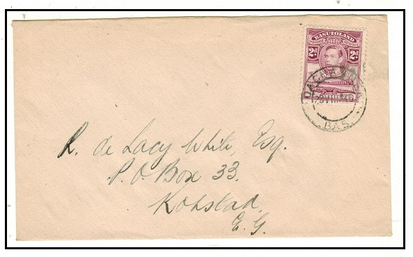 BASUTOLAND - 1946 2d rate local cover used at QACHASNEK.