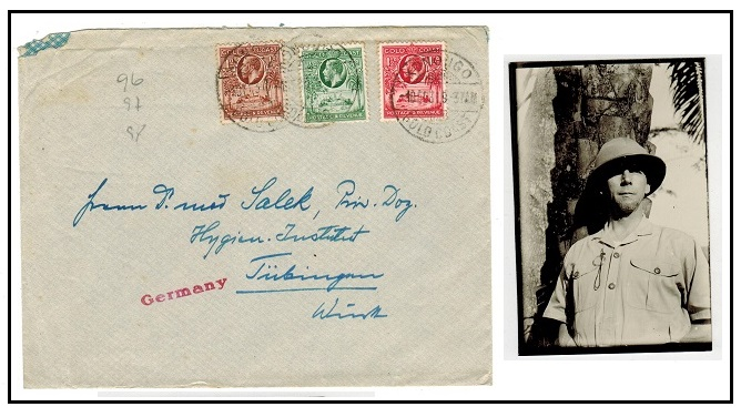 GOLD COAST - 1931 cover to Germany used at KONOUGO.