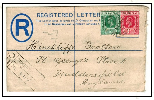 SIERRA LEONE - 1912 2d blue RPSE uprated to UK used at SUMBAYO.  H&G 3.