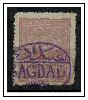 IRAQ - 1900 (circa) 20pa adhesive of Turkey cancelled BAGDAD in violet.