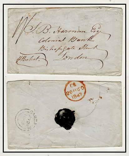 BARBADOS - 1847 stampless