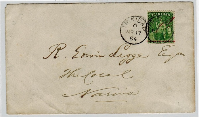 TRINIDAD AND TOBAGO - 1884 local cover with