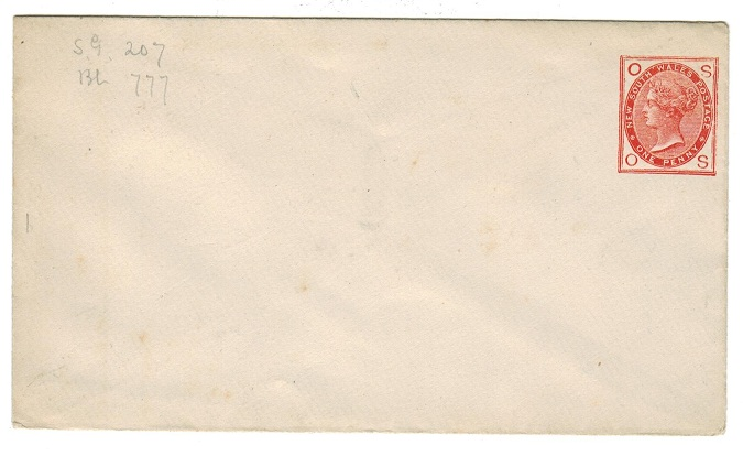 AUSTRALIA (New South Wales) - 1882 1d brick red PSE unused pre-printed