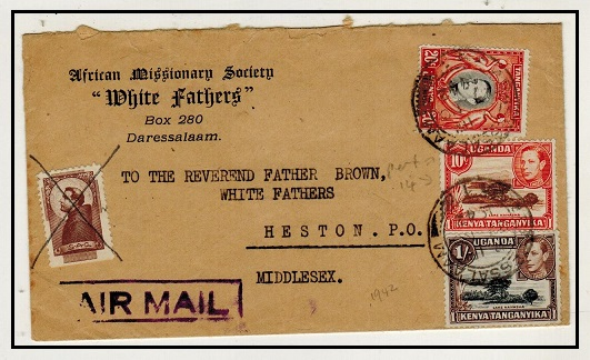 K.U.T. - 1942 1/30c rate cover to UK with