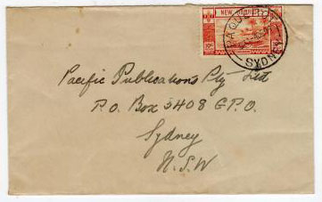NEW HEBRIDES - 1941 PAQUEBOT cover to Australia.