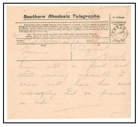 SOUTHERN RHODESIA - 1923 use of