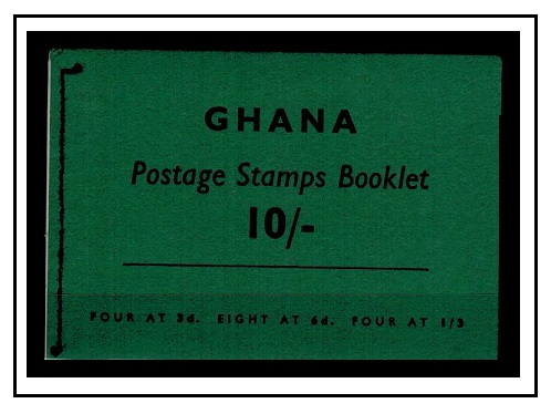 GOLD COAST - 1961 10/- black on grey green complete BOOKLET.  SG SB4.