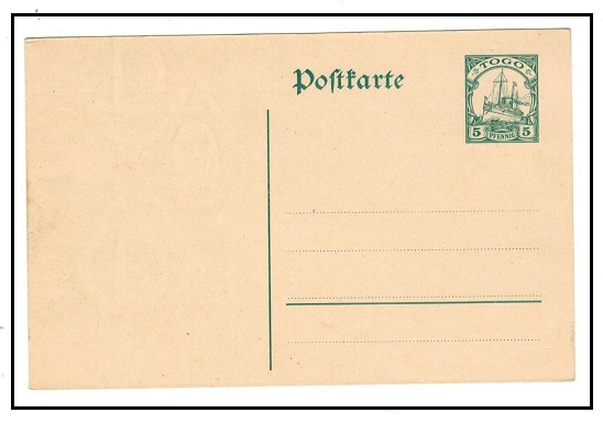 TOGO - 1912 5pfg green PSC unused.  H&G 18.