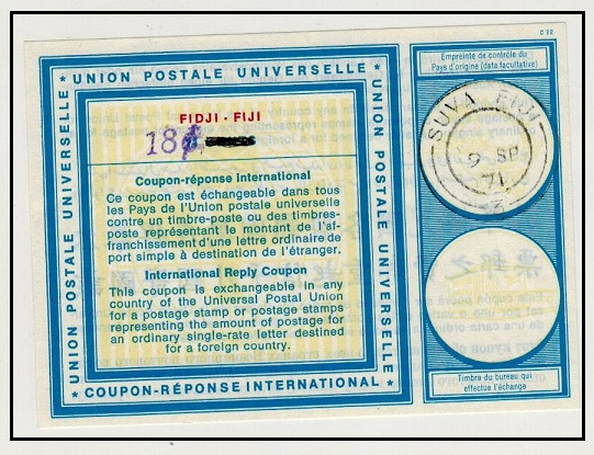 FIJI - 1971 issued 18c on 11 cents