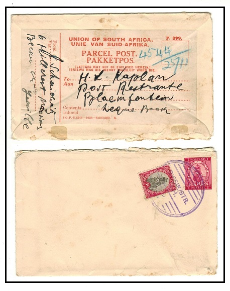 SOUTH AFRICA - 1939 1d red PSE railway usage with