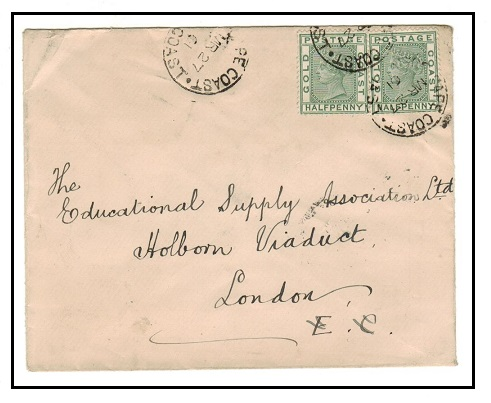 GOLD COAST - 1901 1d rate cover to UK used at CAPE COAST.