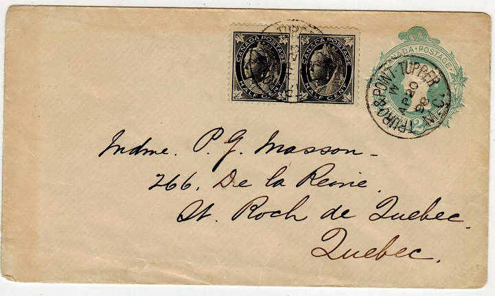 CANADA - 1895 2c green PSE uprated locally used at TRURO & POINT TUPPER/M.C.  H&G 9.