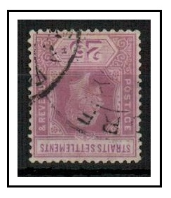 MALAYA (Straits Settlements) - 1912 25c dull purple and mauve used with INVERTED WATERMARK.
