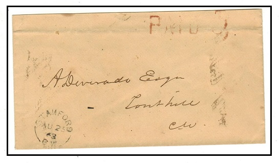 CANADA - 1863 local stampless