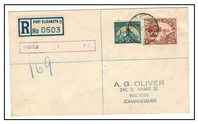 SOUTH AFRICA - 1947 registered