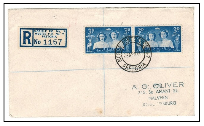 SOUTH AFRICA - 1946 registered